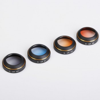4pcs Set Filters For Mavic (Red,Blue,Orange,Gray Graduated)