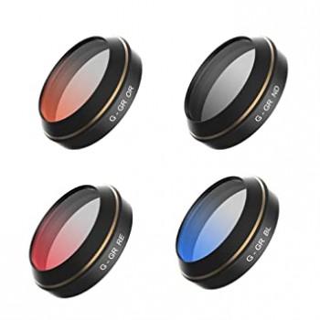 4pcs Set Filters For Mavic (Red,Blue,Orange,Gray Graduated)