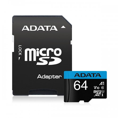 ADATA 64GB UHS-I U3 V30S(R100MB/s)W/1 ADAPTER