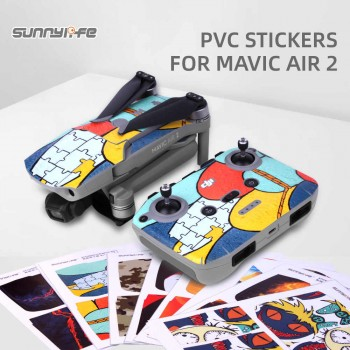Sunnylife Protective Film PVC Stickers Waterproof Scratch-proof Decals Skin for Mavic Air 2