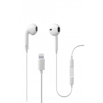 Cellularline Earphone MFI Swan for iPhone White