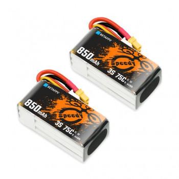 BETAFPV 850mAh 4S 75C Lipo Battery (2Pcs) XT30 Connector