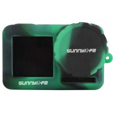 Sunnylife Silicone Cover Lens Case for OSMO ACTION - Blk & Green- BHT631