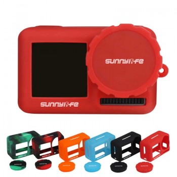 Sunnylife Silicone Cover Lens Case for OSMO ACTION -Red- BHT631