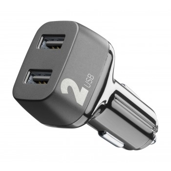 Cellularline Car Charger 2 USB 2*12W Black