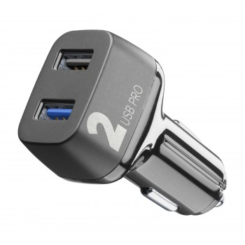 Cellularline Car Charger 2 USB 2*18WQC Black