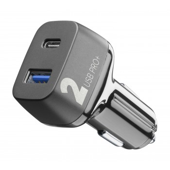 Cellularline CAR CHARGER 18WQC + 18WPD BLACK