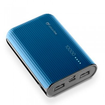 Cellularline Power Bank 10000  mAh - Blue