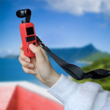 Sunnylife Silicone Protective Cover Case Sling for DJI OSMO POCKET-(OP-Q9158)-Red