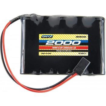 Onyx NiMH 6.0V 2000mAh AA Flat Receiver Universal Plug