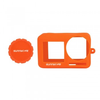 Sunnylife Silicone Cover Lens Case for OSMO ACTION - Orange- BHT631