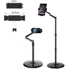 Smatree Black Cellphone & Tablet Floor Stand for 4.7-12.9 Inch iPhone, iPad Mini, iPad Air, iPad Pro