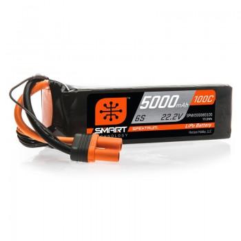 Spektrum 5000mAh 6S 22.2V 100C Smart LiPo Battery: IC5