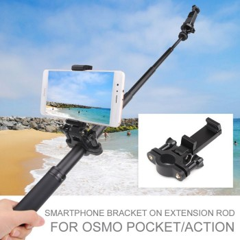Sunnylife Smartphone Bracket Selfie Holder on Extension Rod for OSMO POCKET ACTION
