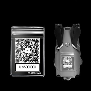 SDSHobby QR Code Phone Number Sticker Waterproof Protective Bag for MINI 2 MAVIC 2 Phantom 3 4 SPARK XIAOMI Q500 H480 Parrot Drone
