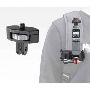 SDSHobby 1/4 GoPro Adapter Aluminum Alloy 360 Rotation Adjustable Adapters for Pocket 2/FIMI PALM 2/Insta360 One X2/SLR Camera