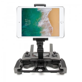 SDSHobby Foldable Aluminum Alloy Mount+Plastic Clip for DJI Mavic Air 2 + Mavic 2 Pro + Mavic 2 Spark + CrystalSky Monitor Black