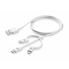 Cellularline USB Cable MFI+MUSB+TYPE-C White