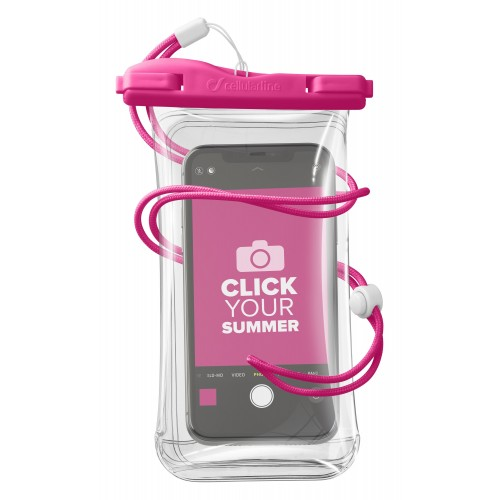 Cellularline Waterproof Case Voyager Univ Pink