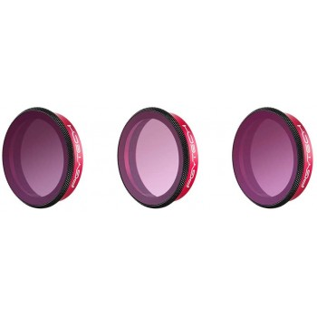 PGYTECH Osmo Action ND-PL Filter Gradient Set (ND8-GR  ND16-4 ND32-8) Professional