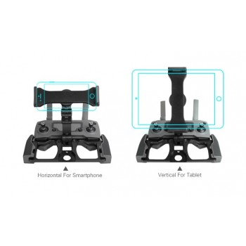Sunnylife Upgrade RC Smartphone Tablet Clip Holder Mavic 2/Spark/Air/Pro/Zoom (Blk)